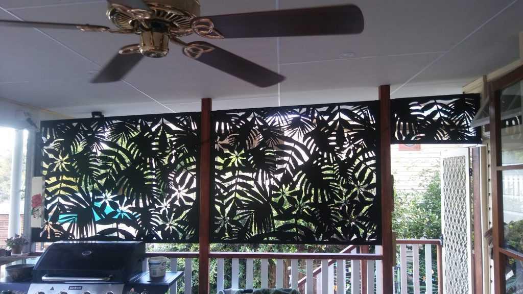 decorative privacy screens tropical rain forest design