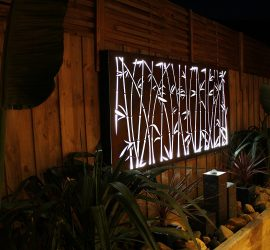 Decorative laser cut Lightbox bamboo