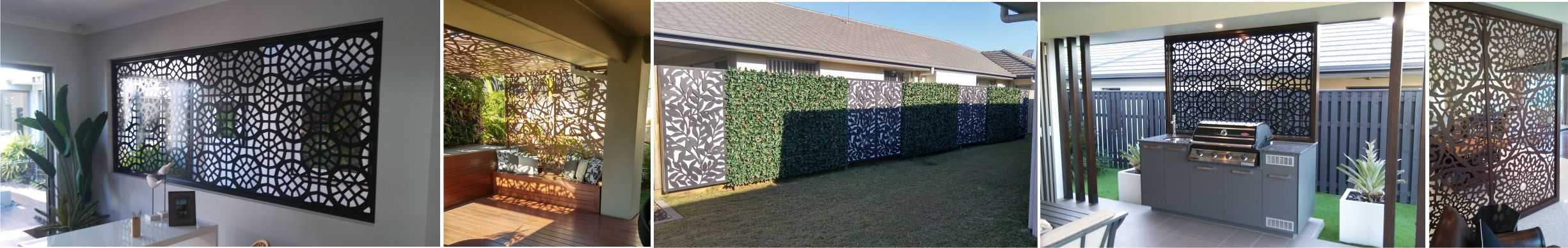 Laser Cut Decorative and privacy screens designs metal aluminium